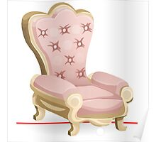 Glitch furniture armchair royal pink armchair Poster