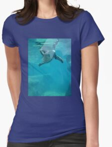 Penguin Underwater Womens Fitted T-Shirt