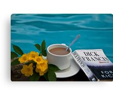 Costa Rica. Coffee at the pool. Canvas Print