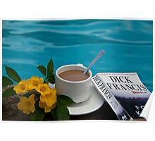 Costa Rica. Coffee at the pool. Poster