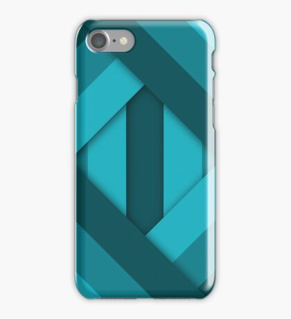 Ribbons [Cyan] iPhone Case/Skin