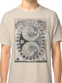 Ancient astronomy diagram charting Phases of the Moon  Classic T-Shirt