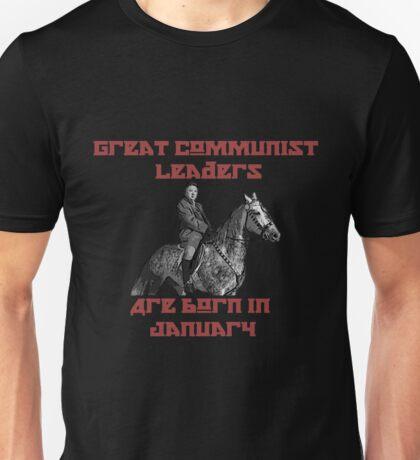 Great Communist Leaders Are Born In January Kim Jong-Un Unisex T-Shirt