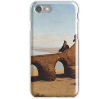 Cesare Biseo (Rome  ) , Orientalist Landscape with bridge iPhone Case/Skin
