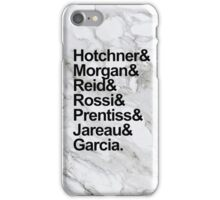 Criminal Minds Names (Marble Background) iPhone Case/Skin