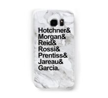 Criminal Minds Names (Marble Background) Samsung Galaxy Case/Skin