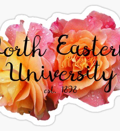 North Eastern University NEU rose Sticker
