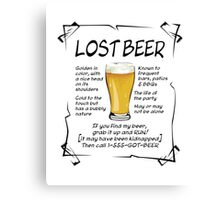 Lost Beer on Light Canvas Print