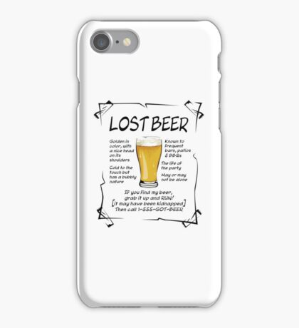 Lost Beer on Light iPhone Case/Skin