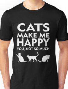 Cats Make Me Happy Unisex T-Shirt