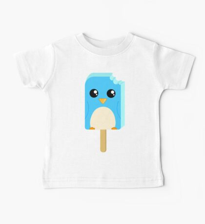 Cute Penguin Popsicle  Baby Tee