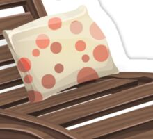 Glitch furniture armchair wooden armchair with dot cushions Sticker
