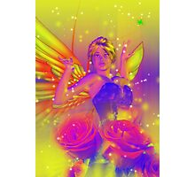 Fairy with Roses Photographic Print