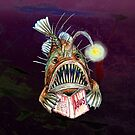 Angler Fish Reads Jaws by didielicious