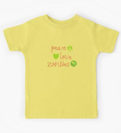 Peace Love and Zombies Kids Tee