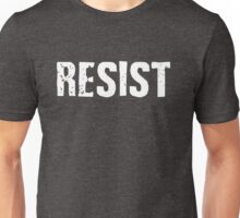 Resist Distressed Against Trump Politics Unisex T-Shirt