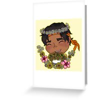 Flower Boy Hunk Greeting Card