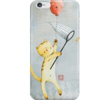 Cat With Balloon iPhone Case/Skin