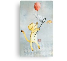 Cat With Balloon Canvas Print