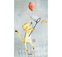 Cat With Balloon Photographic Print