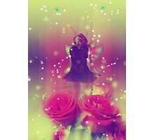 Fairy with Roses 2 Photographic Print