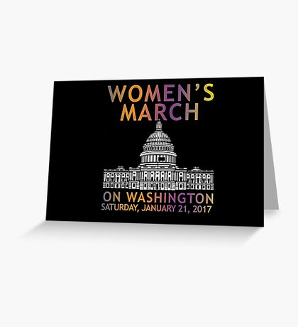 Womens March On Washington Greeting Card