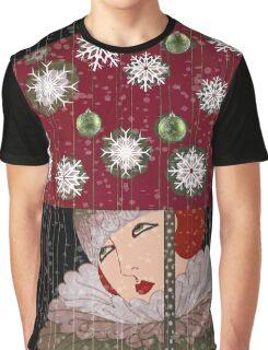 Art Deco Umbrella Girl Graphic T-Shirt