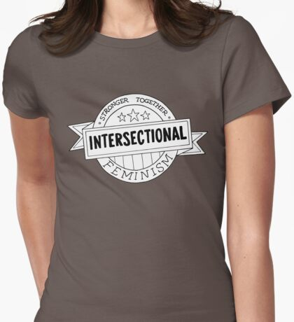 Strength Through Intersectionalism Womens Fitted T-Shirt