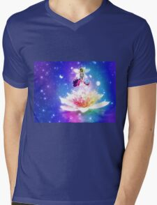Fantasy floral fairy Mens V-Neck T-Shirt
