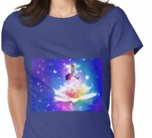 Fantasy floral fairy Womens Fitted T-Shirt