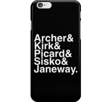 Star trek captains iPhone Case/Skin