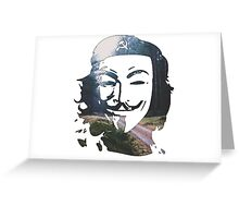 Anonymous Che Guevara, peaceful revolution Greeting Card