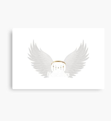 000 Dispatchers Wings - White writing Canvas Print
