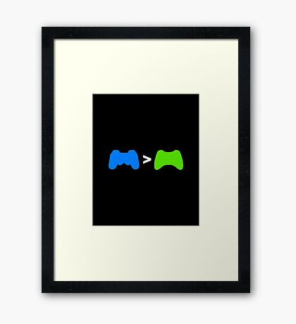 PlayStation Greater Than Xbox Framed Print