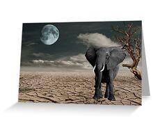 Black Elephant (Desert) Greeting Card