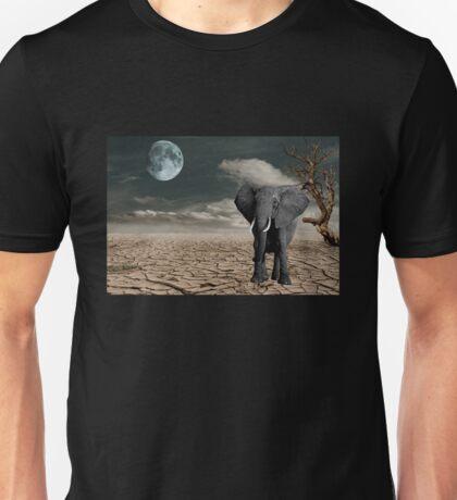 Black Elephant (Desert) Unisex T-Shirt