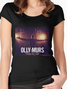 Olly Murs Tour 2017 Women's Fitted Scoop T-Shirt