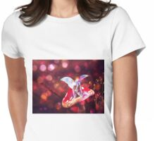 Magic mushroom fairy 3 Womens Fitted T-Shirt