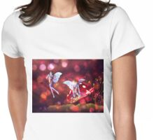 Magic mushroom fairy 4 Womens Fitted T-Shirt