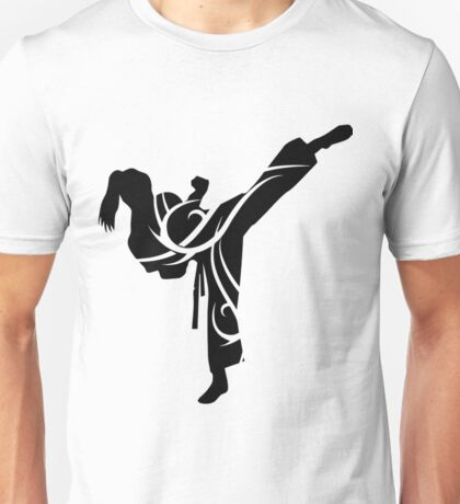Tribal Martial Arts Female Funny Taekwondo Shirts Unisex T-Shirt