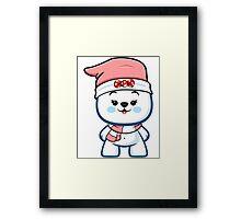 Polar Bear Girl - Christmas Kawaii Framed Print
