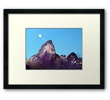 Amethyst mountain Framed Print
