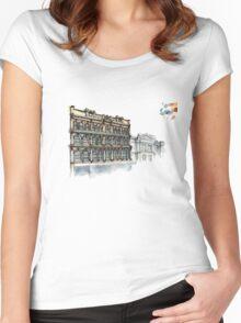 Kennedy Building, Cuba street, Wellington, New Zealand Women's Fitted Scoop T-Shirt