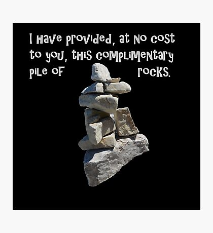 Complimentary pile of rocks Photographic Print