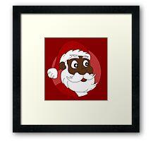 Santa Claus cartoon Framed Print