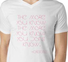 Knowledge  Mens V-Neck T-Shirt