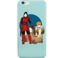 Samurai Girl with a Giant Shih Tzu iPhone Case/Skin