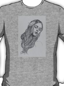 Patience digital illustration of a young girl T-Shirt