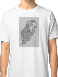 Patience digital illustration of a young girl Classic T-Shirt