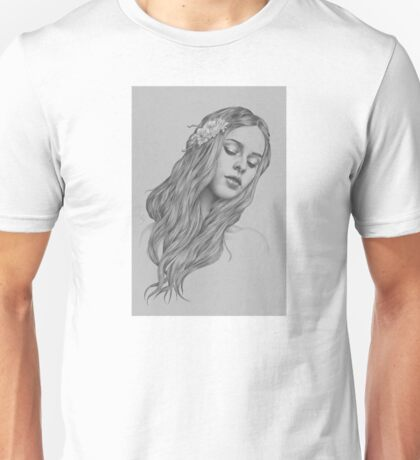 Patience digital illustration of a young girl Unisex T-Shirt